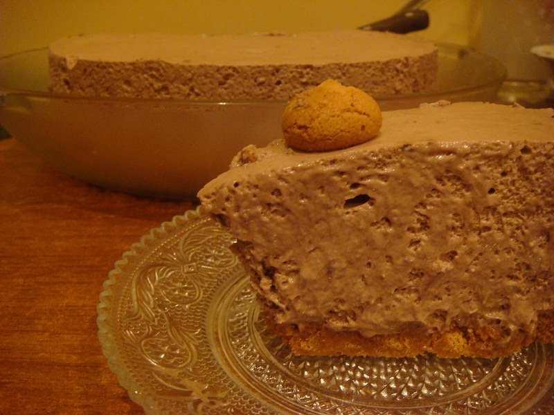 Шоколадный чизкейк с амаретти