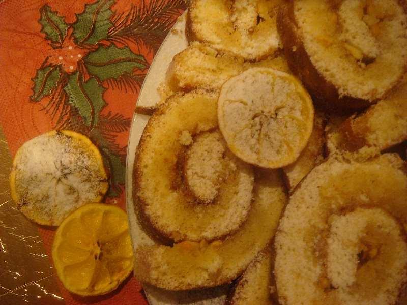 Рулет лимонный