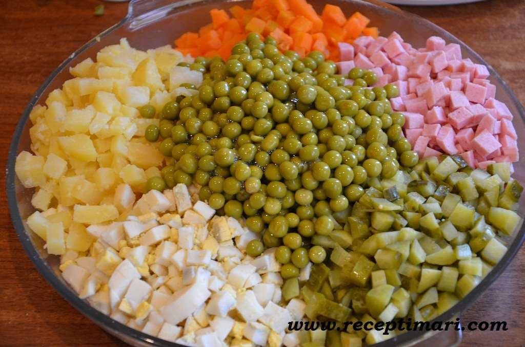 Оливье рецепт с горошком