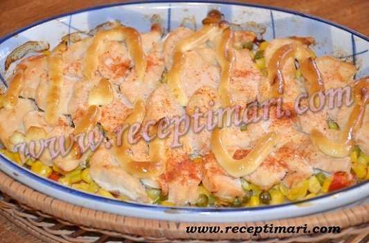 курица в духовке по мексикански