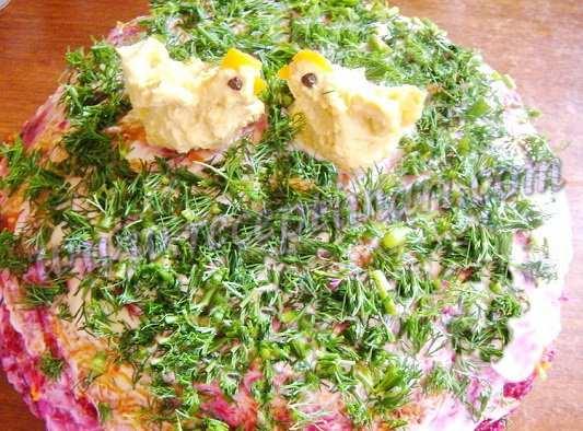 салат шуба без рыбы