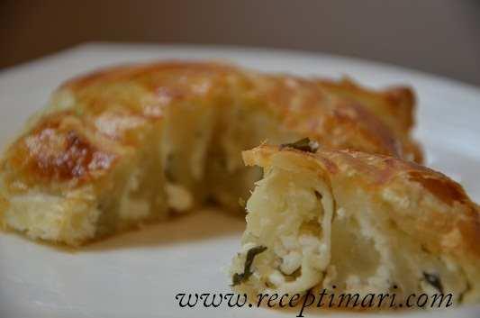 зеляница пирог с фетой и зеленью