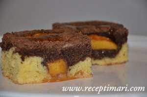 пирог с персиком мечта