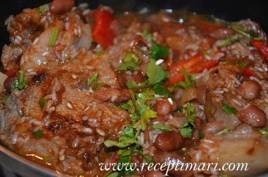 свинина по мексикански с рисом