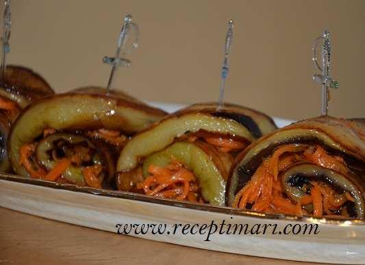 баклажаны с корейской морковью