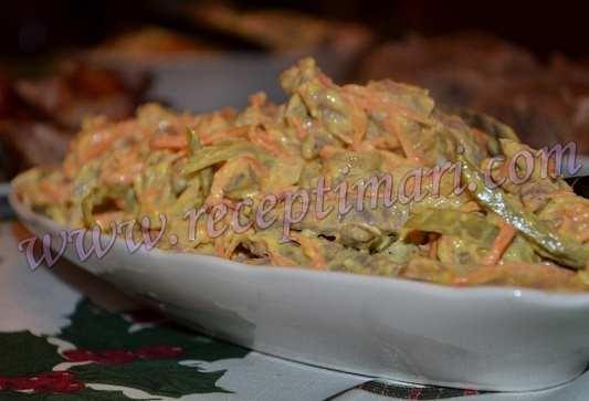 салат с языком и морковью