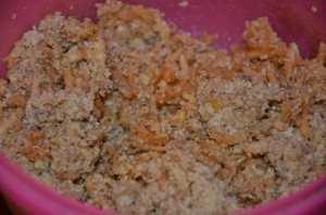 тесто для яблочных кексов