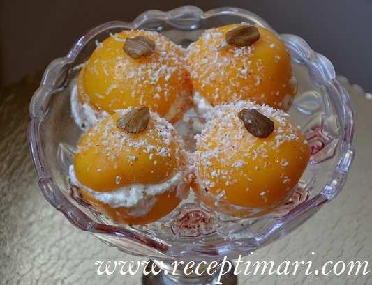 десерт из персиков консервированых