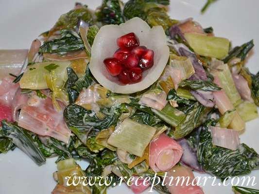 салат из лука порея