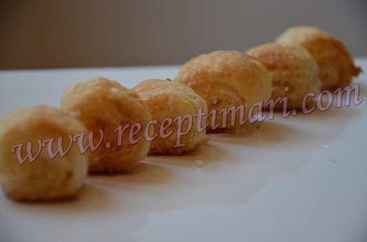 слоеное печенье с кокосом