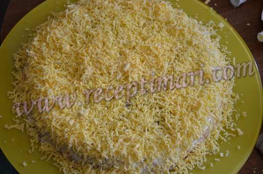 Салат мимоза с картошкой и консервой рецепт с