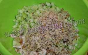 Салат курица огурец и грецкий орех-2