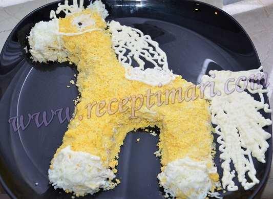 салат на год лошади