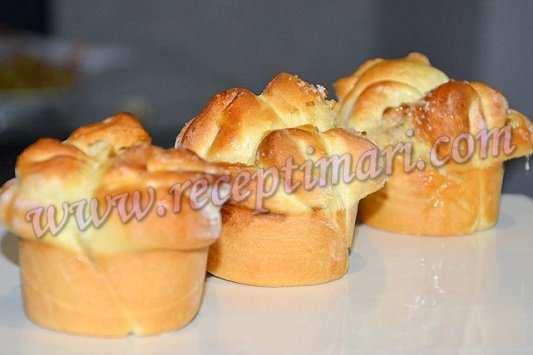 Рецепт булочек в формочках