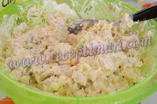куриный салат с грецкими орехами