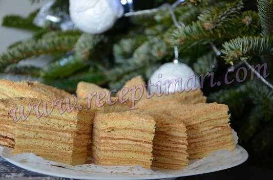 торт медовый с вареной сгущенкой