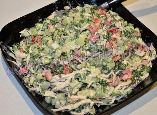салат из грудки огурца и перца