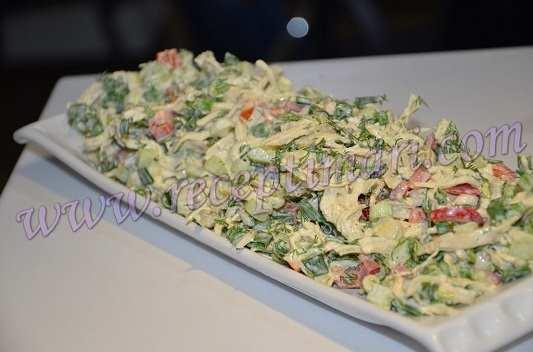 салат из грудинки и перца