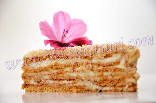 Кофейно-медовый торт