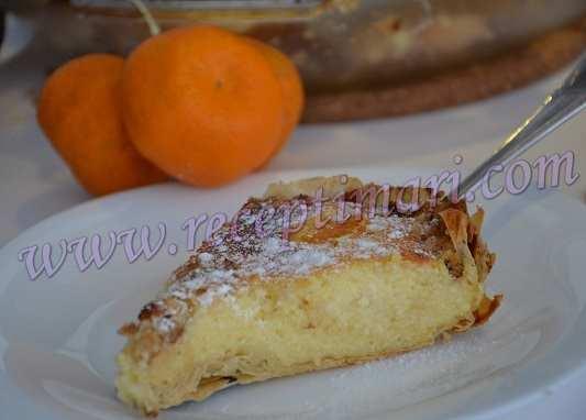 Творожный пирог с тестом фило