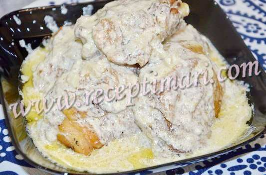 чкмерули курица в сливочном соусе