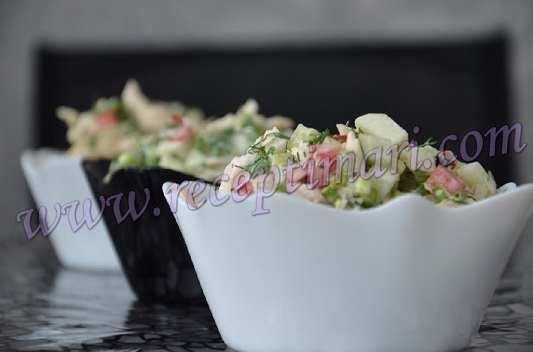 салат из грудки перца и огурца