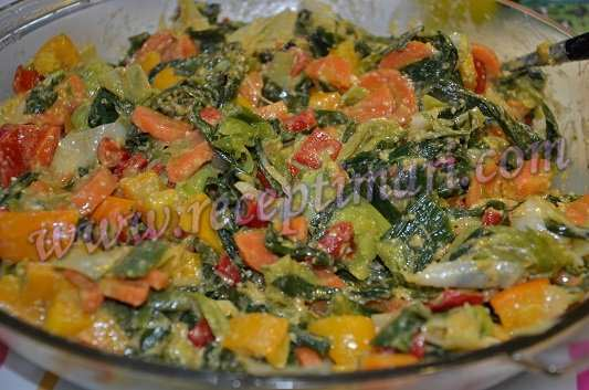 овощи с орехами