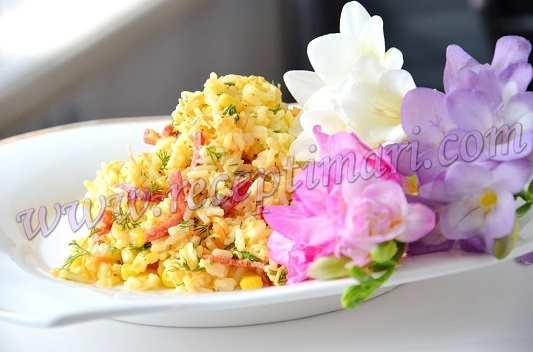 салат с морковью и рисом