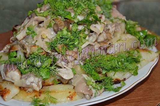вешенки с картошкой