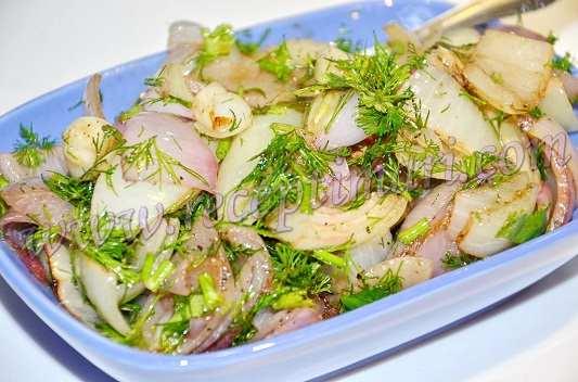 салат к шашлыку рецепт