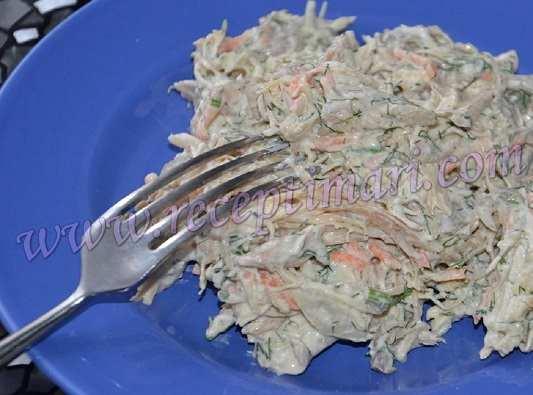 салат из грудки и моркови