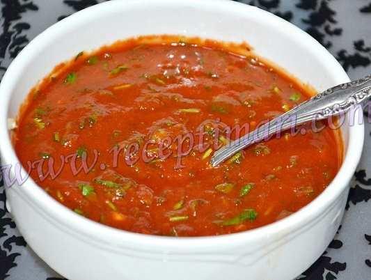 красный соус к рыбе и шашлыку