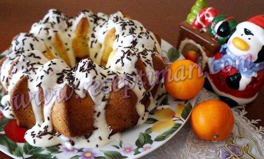 новогодний мандариновый кекс
