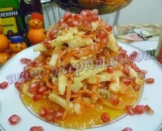 новогодний мандариновый салат