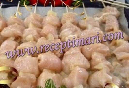 шашлык курица с ананасами