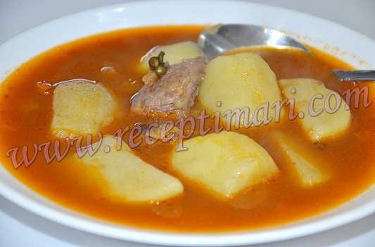 Суп с чечевицей и мясом