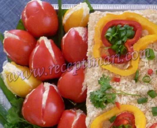 салат тюльпаны из помидор