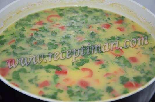к косовому супу добавляем зелень