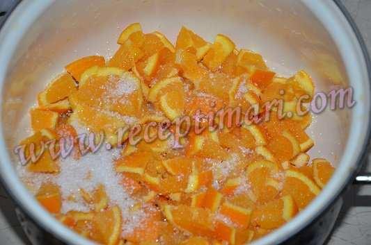 нарежим апельсины