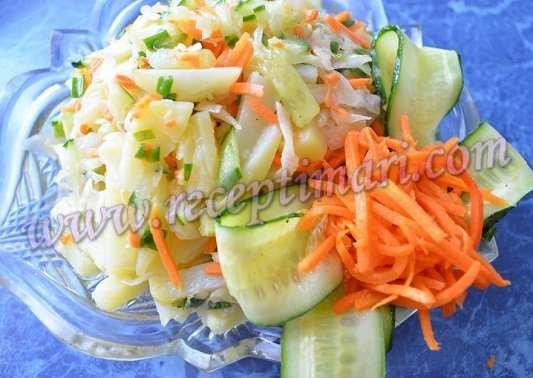 салат с квашенной капустой рецепт