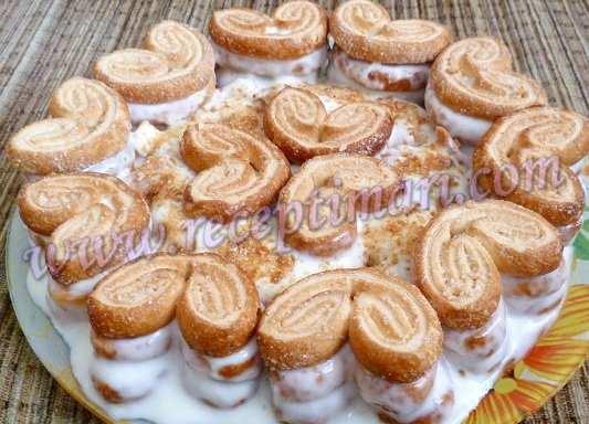 торт из слоеного печенья