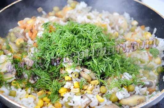 рис с курицей и горошком 4