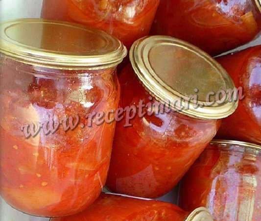 Лечо из помидоров на зиму простой рецепт