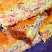 Наливной рыбный пирог