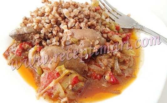 блюдо из куриной печени