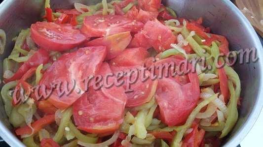 пожарить лук перец помидоры