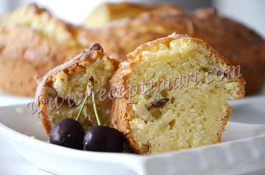 Пирог с грецкими орехами на дрожжах
