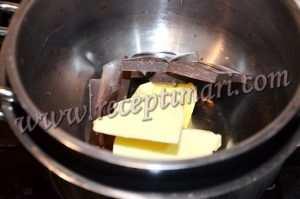 шоколад с растопленным маслом