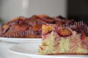 сливовый перевернутый пирог