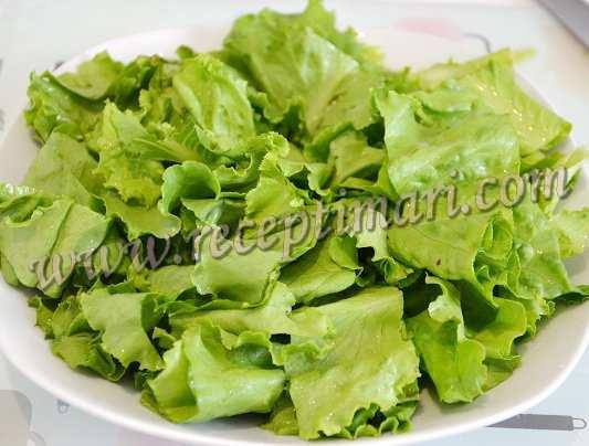 порвем салатные листья